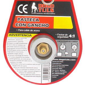 """PASTECA 2T CON GANCHO PARA CABLE DE ACERO DE 3/8"""""""