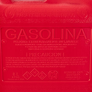 TANQUE DE PLASTICO PARA GASOLINA, CONTENIDO 2 GALONES, MARCA MIDWEST