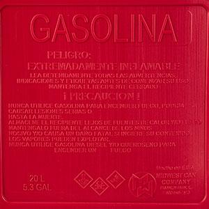 TANQUE DE PLASTICO PARA GASOLINA CONTENIDO 5GALONES MARCA MIDWEST
