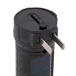LINTERNA SOLAR 1 LED 30 LÚMENES 110 VOLTS ABS
