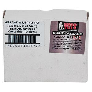 """BURIL CALZADO AR6 3/8"""" DERECHO K42 D2"""