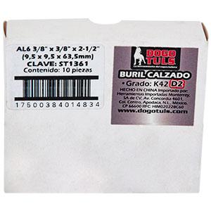 """BURIL CALZADO AL6 3/8"""" IZQUIERDO K42 D2"""