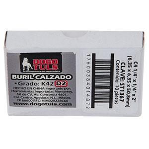 """BURIL CALZADO C4 1/4"""" CUADRADO K42 D2"""