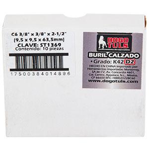 """BURIL CALZADO C6 3/8"""" CUADRADO K42 D2"""